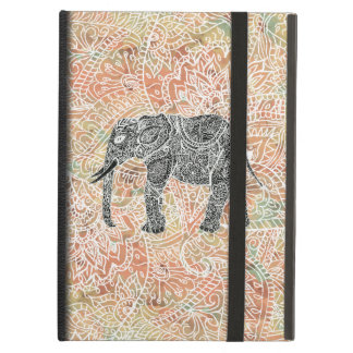 Tribal Paisley Elephant Colorful Henna Pattern Case For iPad Air