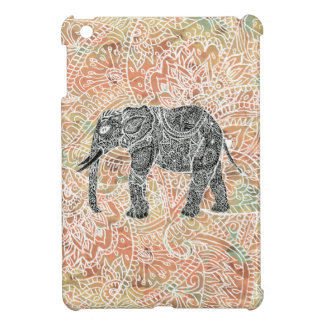 Tribal Paisley Elephant Colorful Henna Pattern iPad Mini Case