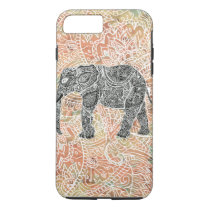 Tribal Paisley Elephant Colorful Henna Pattern iPhone 8 Plus/7 Plus Case