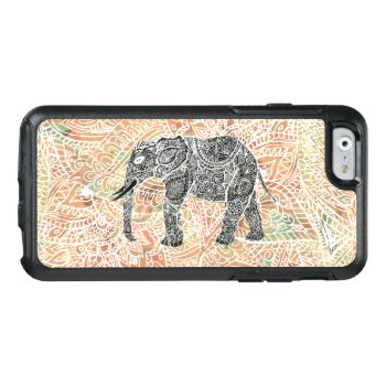 Tribal Paisley Elephant Colorful Henna Pattern Otterbox Iphone 6/6s Case by girly_trend at Zazzle