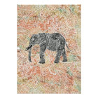 Tribal Paisley Elephant Colorful Henna Pattern Poster