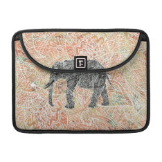 Tribal Paisley Elephant Colorful Henna Pattern Sleeve For Macbooks at Zazzle