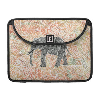 Tribal Paisley Elephant Colorful Henna Pattern Sleeve For MacBooks