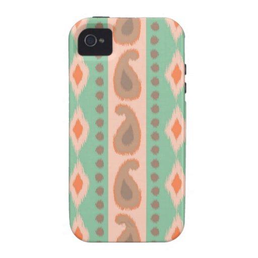 Tribal paisley geometric Aztec ikat stripe pattern iPhone 4/4S Covers