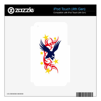 TRIBAL PATRIOTIC DECALS FOR iPod TOUCH 4G