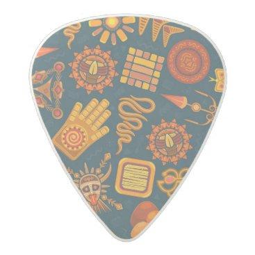 Aztec Themed Tribal Pattern Acetal Guitar Pick