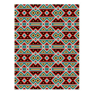 Tribal Pattern. Aztec Fabric. Chic Native American Postcard