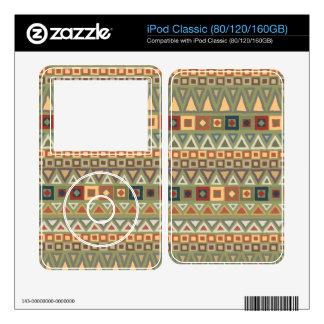 Tribal Pattern Green iPod Classic Decals