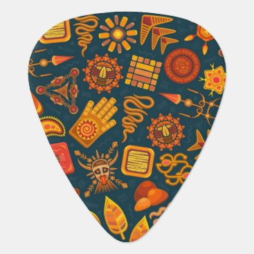 Aztec Themed Tribal Pattern Guitar Pick