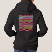 Tribal Pattern Hooded Sweatshirt