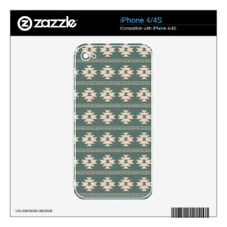 Tribal pattern in pastel colors iPhone 4 decals
