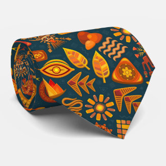 Tribal Pattern Neck Tie