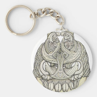 tribal pattern.png basic round button keychain