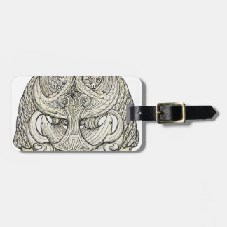 tribal pattern.png luggage tag