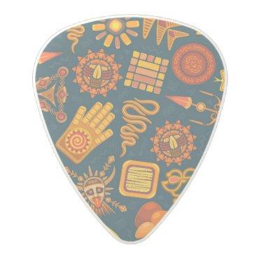 Aztec Themed Tribal Pattern Polycarbonate Guitar Pick