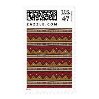 Tribal pattern postage