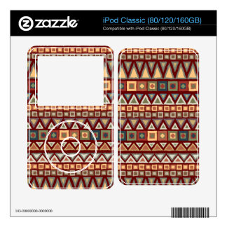 Tribal Pattern Red Decals For iPod Classic