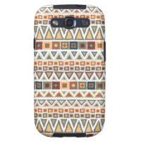 Tribal Pattern White Samsung Galaxy S3 Case