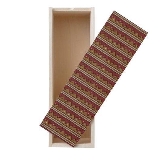 Tribal pattern wooden keepsake box