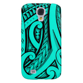 tribal patterns and shapes Polynesian style design Samsung Galaxy S4 Case