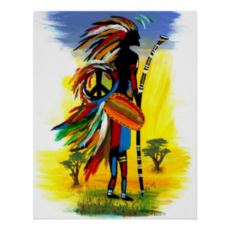 Tribal Peace Poster