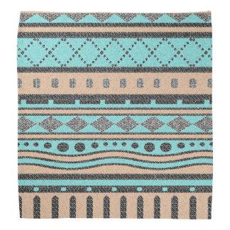 Tribal Peach And Turquoise Aztec Pattern Bandana