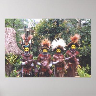 Huli men of Papua New Guinea.