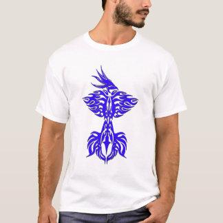 Tribal phoenix 1 blue T-Shirt