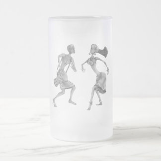 Tribal PickUP Gifts Frosted Glass Beer Mug