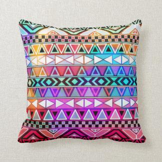 tribal pink purple green  throw cushion pillow