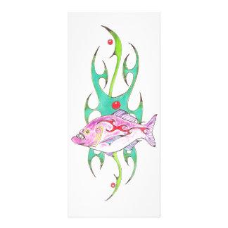 Tribal Piranha Personalized Rack Card