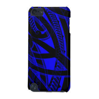 Tribal Polynesian koru design with black, blue/red iPod Touch (5th Generation) Cover