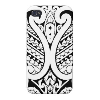 Tribal Polynesian tatoo with Samoan elements iPhone 4/4S Case