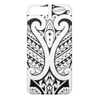 Tribal Polynesian tatoo with Samoan elements iPhone 7 Plus Case