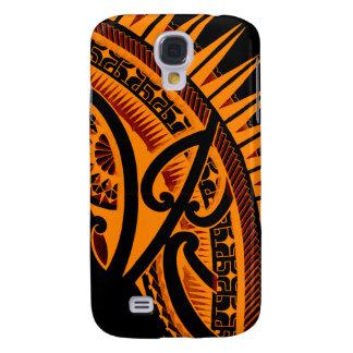 Tribal Polynesian tattoo design handdrawn polyart Galaxy S4 Cover