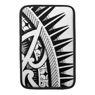 Tribal Polynesian tattoo design handdrawn polyart MacBook Air Sleeves
