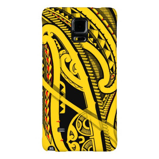 tribal polynesian tattoo design with maori koru galaxy note 4 case