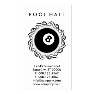 tribal POOL HALL Business Cards