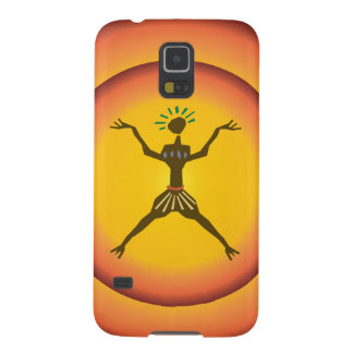 Tribal Primitive Man Glowing Sun Design Galaxy S5 Case