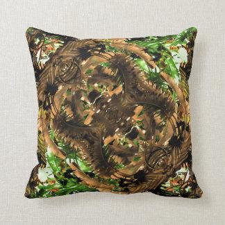 Tribal Print Jungle Throw Pillow