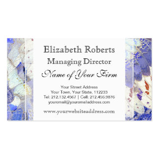 Tribal Purple African Butterfly Wings Pattern Business Card Templates