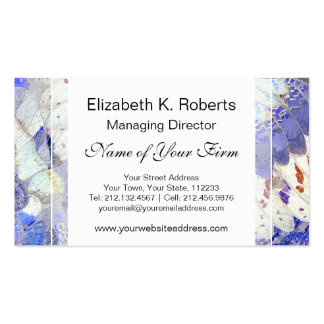 Tribal Purple African Butterfly Wings Pattern Business Cards