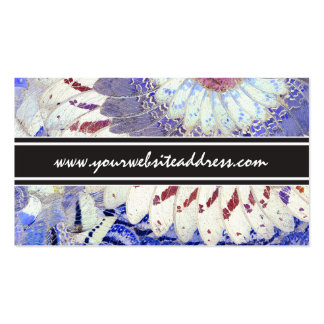 Tribal Purple African Butterfly Wings Pattern Business Card Template