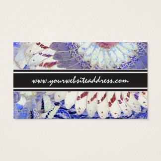 Tribal Purple African Butterfly Wings Pattern Business Card