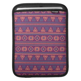 Tribal purple Ethnic pattern iPad Air Sleeve