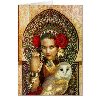 tribal queen greetings card