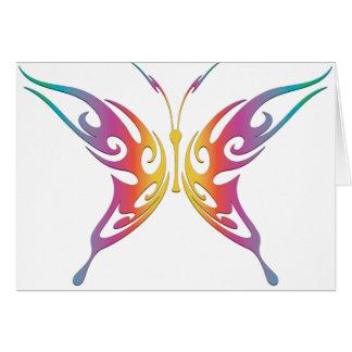 Tribal Rainbow Butterfly Greeting Card
