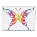 Tribal Rainbow Butterfly Greeting Card