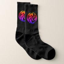 Tribal Rainbow Dragons Large All-Over-Print Socks