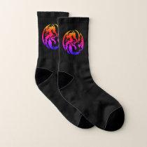 Tribal Rainbow Dragons Small All-Over-Print Socks
